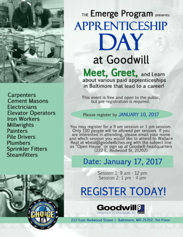 Apprenticeship Day at Goodwill @ Goodwill HQ | Baltimore | Maryland | United States