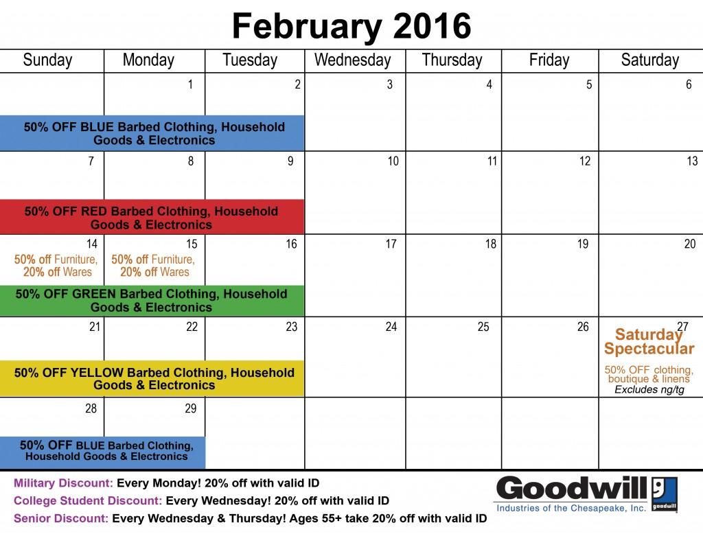 February 16 calendar
