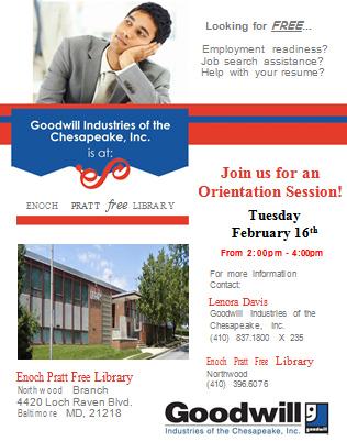 Job Readiness @ Pratt Library Orientation Session (Northwood) @ Northwood Branch of the Pratt Library   Baltimore   Maryland   United States