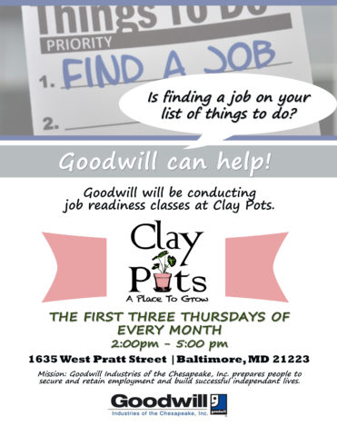 Job Readiness Classes @ Clay Pots @ Clay Pots | Baltimore | Maryland | United States