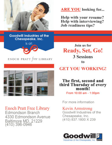 Job Readiness Classes @ the Edmonson Branch of the Pratt Library @ The Edmonson Branch of the Pratt Library | Baltimore | Maryland | United States