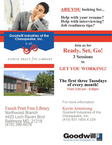 Job Readiness Classes @ the Northwood Branch of the Pratt Library @ The Northwood Branch of the Pratt Library | Baltimore | Maryland | United States