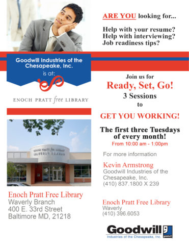 Job Readiness Classes @ the Waverly Branch of the Pratt Library @ The Waverly Branch of the Pratt Library | Baltimore | Maryland | United States