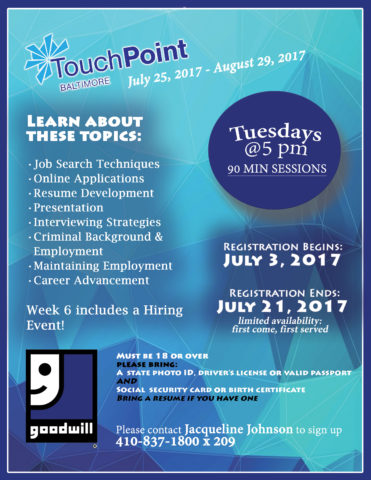 TouchPoint Registration Deadline