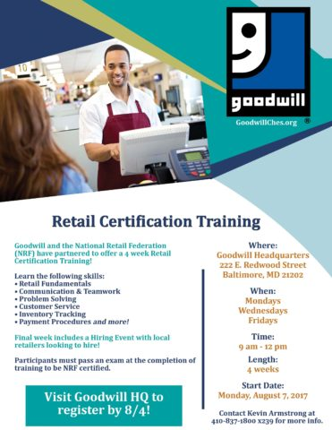 Registration Deadline: Retail Certification Training @ GIC HQ | Baltimore | Maryland | United States