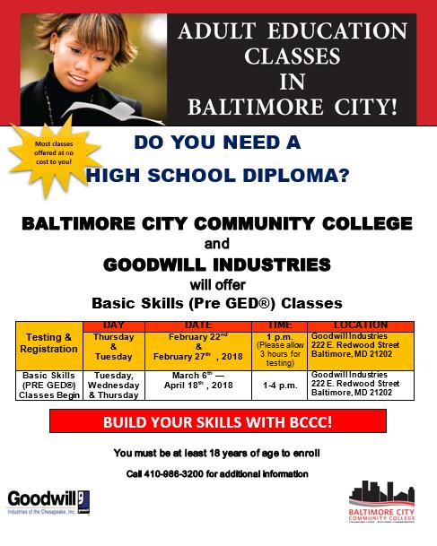 GED Testing & Registration @ GIC HQ | Baltimore | Maryland | United States